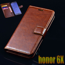 For Huawei Honor 6X Case Cover Luxury Leather Flip Phone Bags For Huawei Honor 6X Ultra Thin Wallet Mobile Phone Bags Case Cover