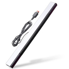 Dual Sided Adhesive Wired Wireless Sensor Bar Genuine Infrared Strip Remote Bar Receiver For Nintendo For Wii/U Wireless Sensor(China)