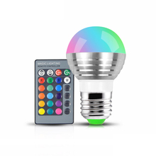 Smart Dimming Remote AC 85V - 265V 110V 220V Changeable RGB LED Spotlight Bulb Christmas stage light lamp + IR Remote Controller