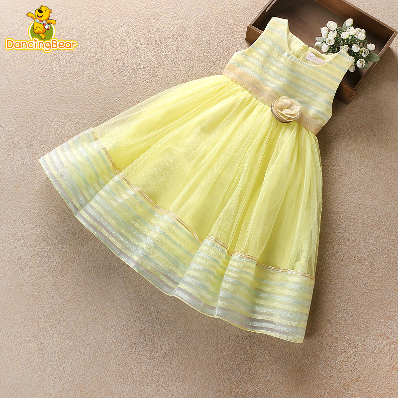 Dancingbear Princess Cute Ball Gown party Prom For Kids Chiffon Lace Toddler Girls Summer Dress flower Dresses<br>