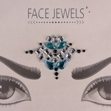Temporary Acrylic Crystal Tattoo Sticker Bohemia And Tribal Style Face And Eye Jewelry Forehead Stage Decor Sticker #258143