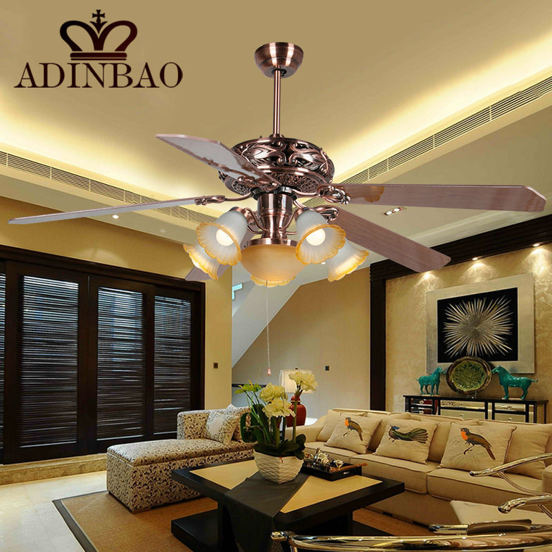 2015 Big Large 60inch Classical Ceiling Fan With Led Light XJ009
