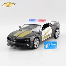 Free Shipping/1:36 Scale/Chevrolet Camaro Police toy/Educational Model/Pull back Diecast Metal toy car/Gift/Collection/Children