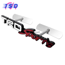Car Styling Accessories Front Grille Emblem 3D Badge for TRD Sports Logo for Toyota Camry Avensis RAV4 Yaris Cruiser Sienna(China)