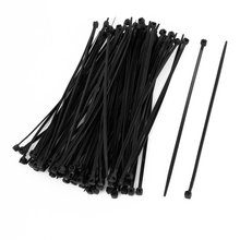 IMC Hot 100 Pcs 150mm x 2mm Electrical Cable Tie Wrap Nylon Fastening Black(China)