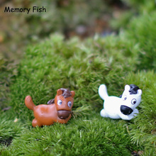 2 Color Funny Mini Cartoon Resin Horse Micro Garden Ornaments Anime Figure Doll House Toys Figurines DIY Succulents accessories(China)