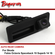 Buy Skoda Fabia Octavia Spaceback 15 Superb 14 15 Trunk Handle OEM wireless Car Auto Reverse Backup CCD HD Rear View Camera for $31.49 in AliExpress store