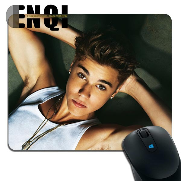 2017 New Products justin bieber hot sexy New Products Silica gel Game Mini Rectangular mouse pad(China (Mainland))