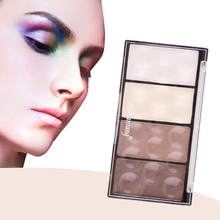 1pcs Professional 4Color Matte Women Face Powder to Isolate and the Shading Palette Powder 4 in 1 Makeup Powder set Best selling(China)