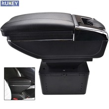 Car Arm Rest Storage Box For Renault/Opel/Ford/Toyota Center Centre Console Rotatable Armrest(China)