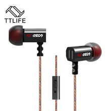 TTLIFE ED9 Original Super Bowl Tuning Nozzles T Shaped Driver Monitoring In Ear Earphone HiFi Earbud With Microphone Transparent(China)