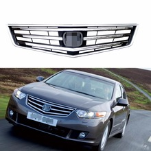1Pcs Chrome Front Bumper Radiator Upper Grill Grille For Honda Accord 2009-2010(China)