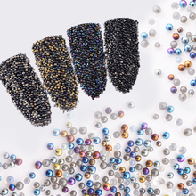 10000Pcs Mini 0.8mm Gradient Beads Shining 3D Nail Decorations for UV Gel Manicure Nail Art Accessories