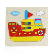 Hot sale Wooden Helicopter Ship Truck Rooter Children Puzzle Toy Educational Learning Baby Kids Training Jigsaw Toy Jouet Bois