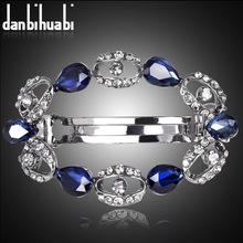 danbihuabi blue wreath hair clip for women luxuruous girls hair clips accessories trendy vintage hairs accessoires bow jewelry