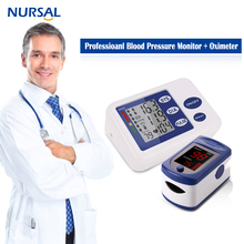 NURSAL Professional Arm blood presure Monitor Finger Pulse Oximeter Family Personal Health Care Tool Digital Heart Rate Monitor(China)