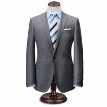 Tailor Made Suit Custom Made western style men business suits brand Bespoke Wedding Suits For Men Grey Navy 3 Pieces Wool Suit(China)