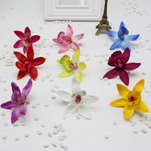 30pcs/lot Silk Orchid Artificial Flower Gladiolus For Wedding Car Home Decoration Orchs Mariage Lily Flores Cymbidium Flowers Pl