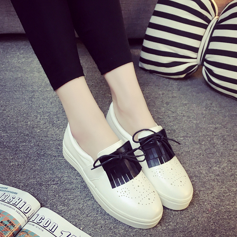 2016 Spring new style butterfly-knot Cut-Outs women casual shoes fashion platform breathable slip-on casual shoes ST799<br>