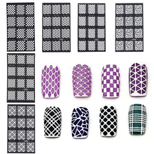 1 Sheet Pro Heart Star Gep Patterns Vinyls Easy Use Nail Art Manicure Stencil Stickers Tools