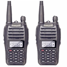 2PCS/lot Baofeng uv b6 Police Walkie Talkie Dual Band VHF And UHF Ham Radio HF Transceiver For 2 Way Radio Midland Handheld Hand(China)