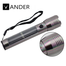 VANDER LIFE Durable LED Solar Flashlight Super Bright LED Torch Lamp Travel Light Outdoor Sports Camp Hiking Flash Light