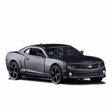 1:36 Scale Chevrolet Camaro Diecast Metal Car Model For Collection Alloy Model With Pull Back Matte Black Car Kids Toy Gifts(China)
