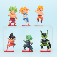 6pcs/set Dragonball Dragon Ball Z GT Super Saiyan Son Goku Vegeta Broly Piccolo Cell Child Goku PVC Action Figures Model Toys(China)