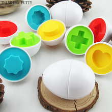 6 eggs/set Creative Education Learning Toys Mixed Shape Wise Pretend Puzzle Smart Eggs Baby Kid Egg Puzzles Toys For Children(China)