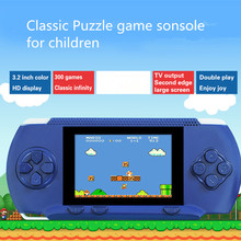 High quality Video Game Console Electronic Handheld Games Retro Brick Tetris Game Consola De Jeu 3.2Inch Video Games Player(China)