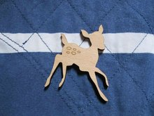 New arrive  Fast shipping could be mix buying wooden lovely cute design deer head brooch