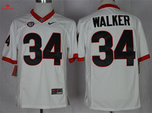 Nike Georgia Bulldogs Herchel Walker 34 College Limited Boxing Jerseys - White Size M,L,XL,2XL,3XL(China)