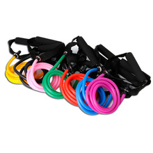 Latex Elastic Resistance Band Pilates Tube Rope Gym Yoga Fitness Equipment