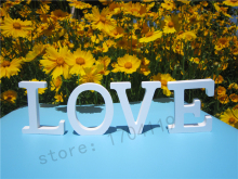 Artificial wood Wooden White Letters 8cm Alphabet  ZAKKA wedding  decoration Home Decoration imitation wood letter