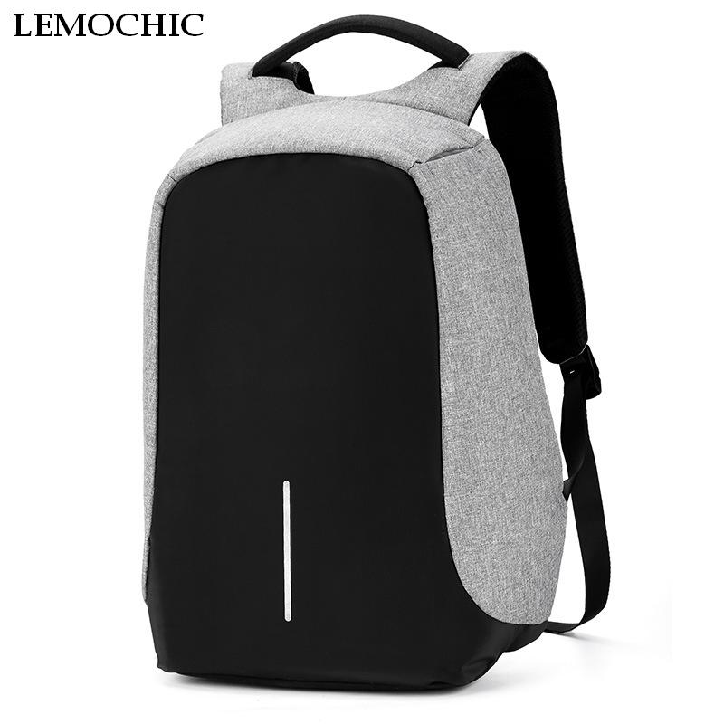 Multifunction USB charging Men 15inch Laptop waterproof school bags Mochila Leisure Travel anti thief backpacks for teenage male<br>