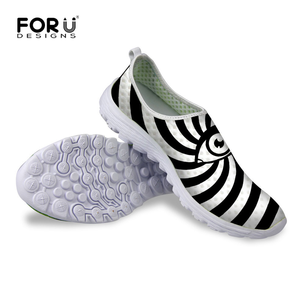 New Summer Style Womens Casual Shoes,Designer Women Striped Flat Shoes,Breathable Outdoor Mesh Walking Shoes Size 35-40<br><br>Aliexpress