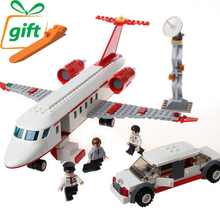 334Pcs/Set Airplane Toy Air Bus Model Airplane Building Blocks Sets Model DIY Bricks Classic Boys Toys Compatible Major Brands