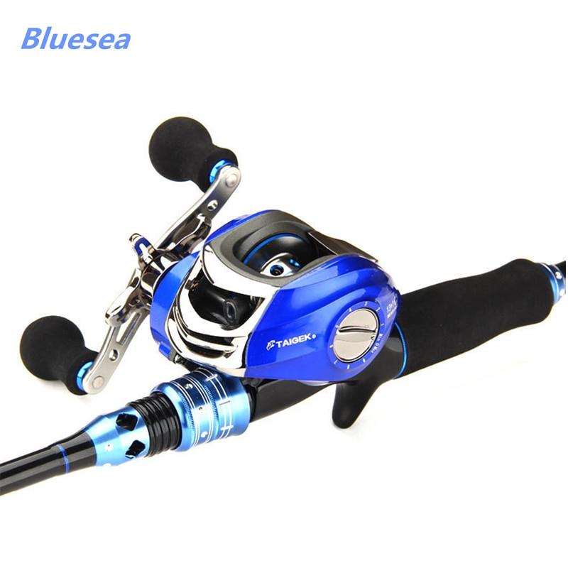 Bluesea fishing reel Right or Left Baitcasting Reel 14BBs 6.3:1 Bait Casting Fishing Reel Magnetic Brake System <br><br>Aliexpress
