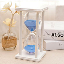 30 Minutes Colorful Transparent Crystal Hourglass Sandglass Glass Sand Timer Clock Home Decor Wedding Decoration Accessories