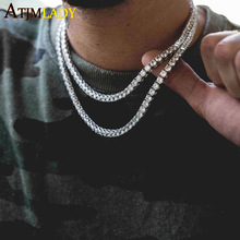 Maxi Necklace Collares Collier 2017 Top Quality Necklace Long/choker Wholesale 5mm Cz Chain For Women/men Bling Tennis Jewelry