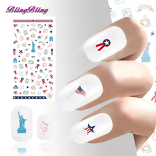2PCS DIY Nail Sticker Decals Ultrathin Adhesive Beauty Nail Wraps Manicure Decoration Accessories Flag Bird Star Mixed Pattern