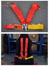 "HB Seat Belts Style Competition 4 Point Snap-In 3"" Seat Belt for FIA 2020 Racing Harness safety belt seat harness with Camlock(China)"