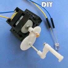 299b97c0cc1 Gerador Dobrado à mão DIY kit de Materiais de Treinamento Crianças 9 5 cm  Motor de Brinquedo Artesanal Ferramenta de Aprendizage.