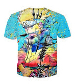 2017 new Naruto 3d Print T-shirt Uzumaki Naruto &uchiha Sasuke Design T-shirt 3d Customized