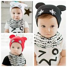 Winter Crochet Baby Hat Boys Girls Child Kintted Ears Beanie Infant Toddler Skullies Cap for 3-24 Months Baby(China)