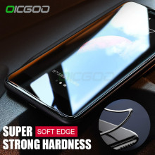 OICGOO 3D Curved Soft Edge Full Tempered Glass For iPhone X 10 Cover Screen Protector Film For iPhone 10 X Tempered Glass