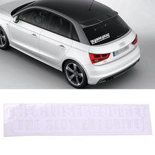 DWCX Funny Car Sticker The Closer You Get The Slower I Drive White Car Van Warning Sticker Window Bumper Body Decal For Cars(China)
