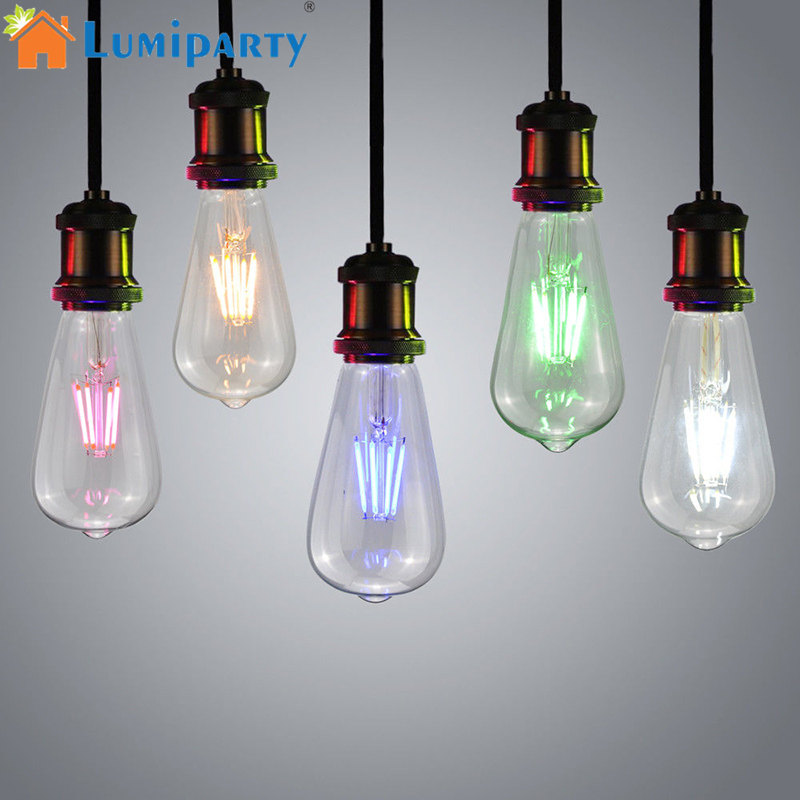 Retro Vintage Edison Filament Light Bulb Lightbulb Screw Fit 40W 230V Blue Pink