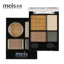 MEIS Brand Makeup Cosmetics Professional Makeup 8 Colors Eye shadow 2 Colors Blusher palette Blush Eyeshadow Palette MS1017(China)