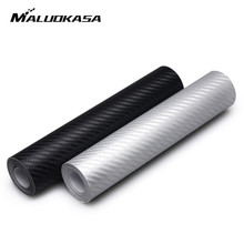 Buy MALUOKASA Car Styling 10cmx127cm 3D Carbon Fiber Vinyl Car Wrap Sheet Roll Film Car Stickers Decals Motorcycle Accessories for $1.20 in AliExpress store
